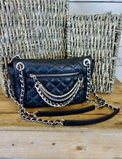 NEW MICHAEL KORS Cheyenne MD Shoulder Flap Handbag Quilted Black Leather $328