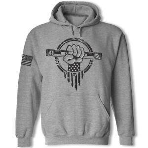 General contractor sweatshirt hoodie - USA superhero construction worker hoodie