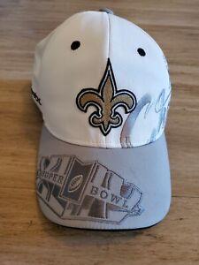 NWOT New Orleans Saints REEBOK NFL Super Bowl XLIV 44 TROPHY Champions Hat CAP