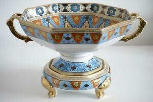 Noritake Nipponware Gilded Bowl & Stand Table Centre - Early Twentieth Century