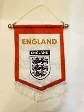 ENGLAND Pennant (31x 21cm) Soccer Team Hang Flag Great For Bar / Home /Office