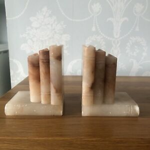 Pair of Onyx marble book ends Books Library Study