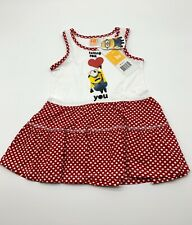 childrens Minions dress red size 3-8 years  Disney
