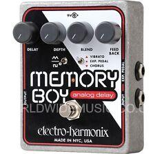 EHX Electro Harmonix MEMORY BOY Delay Chorus Vibrato Efectos Guitarra Analog Pedal