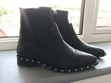 Topshop Real Leather Studded Sole Boots Size 4
