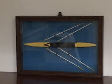 More details for model of rowing skull in box frame. 38.2x56x8cms. secure bracket for nail.