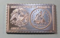 1853 U. S. Seated Liberty Quarter Dollar Numistamp Medal Coin 1975 Mort Reed