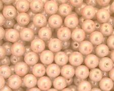 100 Rosaline Glass Pearl Beads 8mm Round Beads