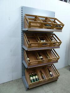 Brotregal 1m silber Tegometall Getränkeregale Regale Bäckerei Weinhandel Eden