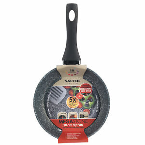 Salter BW05745S Megastone Collection Non-Stick Frying Pan, 20 cm, Silver