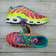 NIKE Air Max Plus(GS) Volt Iron Grey Pink Blast CW5840 700 - Sz 5.5Y New/NoBox