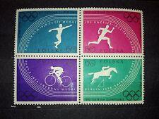 Stamps POLAND POLEN 1960 - Olimpic Games Rome, Fi1022-29B SC914-21A Mi1166-73A