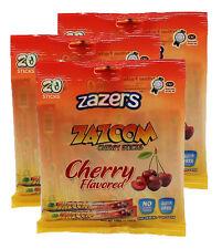 Zazers Chewy Cherry Zazoom Sticks Taffy Coloring/Gluten Free Kosher 20pcs (3pk)