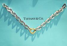 Tiffany & Co 18ct 18K Or & Argent Sterling Coeur Bracelet Lien