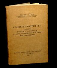 [EGYPTE EGYPTOLOGIE HYIEROGLYPHES PHILOLOGIE] NAVILLE - L'Ecriture égyptienne.