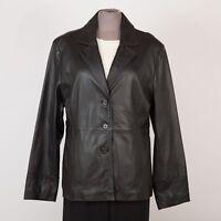 Women's Leather Jacket Size M Medium Black STUDIO WORKS
