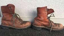 vtg Red Wing Irish Setter Leather Boots 8.5 A USA Made Distressed Work Rugged
