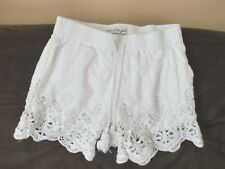 Girl's~IMPERIAL STAR~WHITE~CROCHET~UNDERLINED~100%COTTON~SHORTS size 8~CUTE~