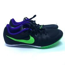 Nike Zoom Rival M Men Track Sprint Spikes 806555 035 Black Size 12 NO SPIKES
