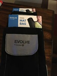 Lot Of (2) Evolve By Gaiam Yoga Mat Bag, Black/Grey  -BRAND NEW - Fast Shipping