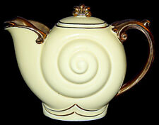 Hall China Nautilus Canary Gold Special Teapot - GREAT GOLD!