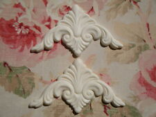 Acanthus Leaf Spandrels Corner Pair Architectural and Furniture Appliques Onlay