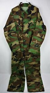 Army Camo Jumpsuit Military Camouflage Work Hunting Coveralls #15 Full Zip Front