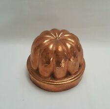 More details for antique copper jelly / jello mould, round dome shape with 10 fluted ribs.