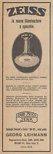 Z3321 ZEISS la nuova illuminazione a specchio - Pubblicità d'epoca - 1926 old ad