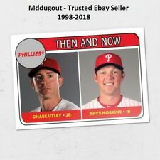 Rhys Hoskins / Chase Utley #70 Phillies 2018 Topps TBT 1969 Rookie Star Design