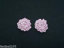 50er years Earrings Clips Vintage Purple Glass Fashion Jewellery (95)