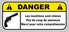 DANGER PLOMB COLT JDM HUMOUR AUTO MOTO STICKER 12cmX5,5cm (DA200)
