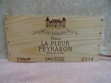 2014 CHATEAU LA FLEUR  PEYRABON CRU BOURGEOIS WOOD WINE PANEL END
