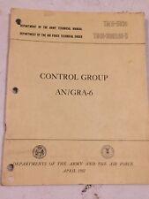 AN/GRA-6 Control Group VRC 8 9 10 Technical Manual TM 11-5038 1951 M38 M38A1