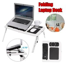 More details for folding laptop bed table stand sofa lap tray computer desk adjustable portable