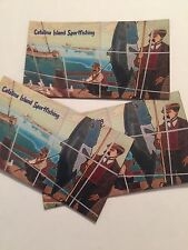 CATALINA ISLAND SET OF 3 MAGNETS SPORT FISHING WALL TILE SOUVENIRS #78G