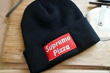 Supreme Pizza Embroidered, Foodie, Food Beanie Hat