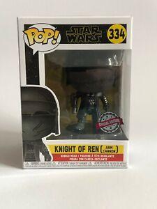 Funko Pop! Star Wars Figur Knight of Ren - 334 Special Edition Schwarz Marvel