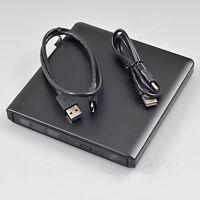 External USB 3.0 LightScribe DVD 8X Burner CD R RW PC Mac Optical Drive Aluminum