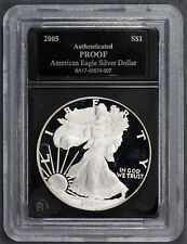 2005-W 1 oz AMERICAN EAGLE $1 SILVER DOLLAR *PROOF* LOT#N366