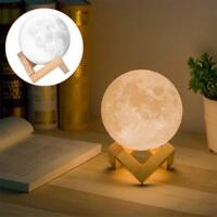 3D Moon Lamp Base USB LED Night Light Base Gift Touch Sensor Color Changing UP