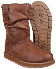Calzado de mujer botines Skechers color principal marrón