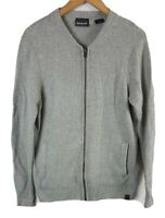 Timberland Mens Zip Through Jacket Lambswool Medium Size M Soft Handfeel