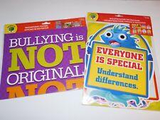 Anti Bullying Teacher Curriculum Educational Posters Bulletin Board Cutouts 2 PK