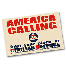 Two America Calling Take Your Place in Civil Defense 11x17 Posters