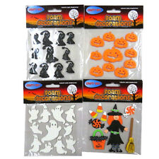 Halloween Foam Decoration Stickers - Pack of 4, Witch, Ghosts, Cats, Pumpkins