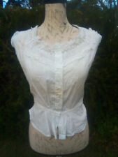ANTIQUE 1900'S WOMEN'S HANDMADE CHEMISE IN WHITE