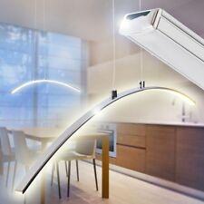 Sospensione Lampada Soffitto Cucina Sala Pranzo Salotto Design LED Moderna Cromo