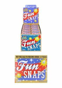 9 X BOXES OF FUN SNAPS THROW BANGERS SNAP BANGS PARTY SNAPS PARTY BAG FILLERS