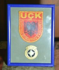 Kosovo Liberation Army - UÇK - sleeve patch and Female Beret Badge